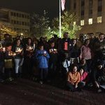 In North Carolina, Hundreds Protest #Ferguson Decision http://t.co/SMAz7ij1uD @reemakhrais reports http://t.co/yGvKQTU4LH