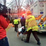 Total of 5 injuries from what we counted on scene, after trolley collision in Dorchester #WCVB http://t.co/Vzl1huF95t