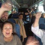 ¡Viajando a Valparaíso con once buses llenos! ¡La Anef presente en rechazo al reajuste miserable! http://t.co/zvKh0Scz7c