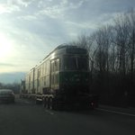 Whats this #MBTA Green Line train doing on a New York State highway? http://t.co/Ila8Sm6UY6 CC: @universalhub http://t.co/tIxRrR81bG