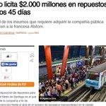 Metro licita $2.000 millones en repuestos en últimos 45 días. Vía @pulso_tw http://t.co/8kPYZ38b9L http://t.co/nrODh2Av76