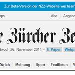 Übrigens: Die NZZ ist jetzt ganz offiziell auch eine Beta: http://t.co/5t7PjLq108 http://t.co/C5opYT7cMY