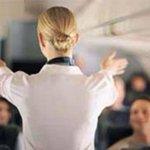 Стюардесса показывает пассажирам, как нужно правильно толкать самолёт http://t.co/eEna4IA7QG