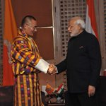 PM @tsheringtobgay, it was wonderful meeting you! We are committed to enhancing India-Bhutan cooperation. http://t.co/fmgPbKVlS8