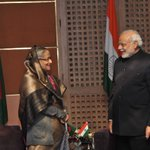 Had fruitful meetings with SAARC leaders. Here is a picture of my meeting with PM Sheikh Hasina. http://t.co/T5kquJ2EEy