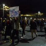 Hundreds of protesters in Boston decried the #FergusonDecision, marching on city streets Tues: http://t.co/WRSgafGhRu http://t.co/t26Py6BQ8w
