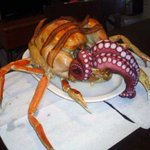 Ditch the turducken. This year its all about the Cthurkey! An octopus stuffed, crab leg & bacon wrapped turkey. http://t.co/y1OGeb2EZg