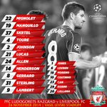 The full #LFC line-up and substitutes for the Champions League clash in Sofia… http://t.co/fjzEWBxM46