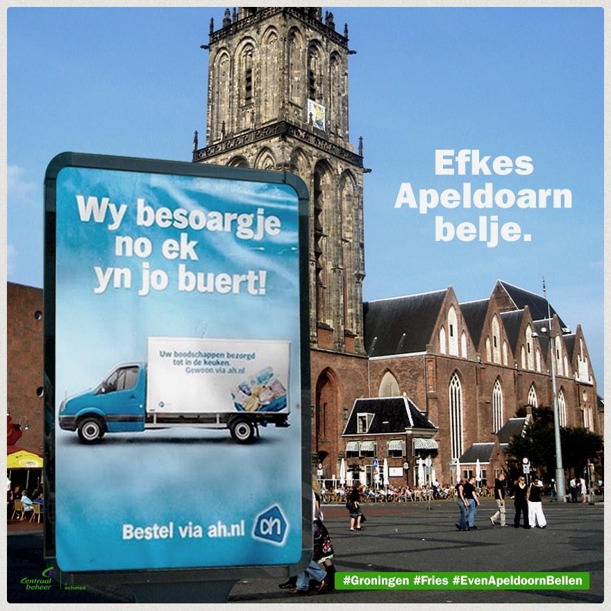 Hahaaa! Moaie aksje fan @centraal_beheer! :) #Frysk yn Grins @albertheijn http://t.co/Johg9piMAp