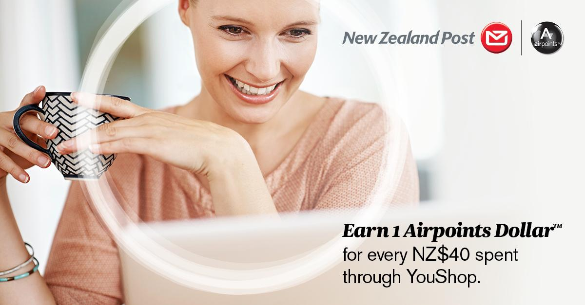 Earn Airpoints when you ship your online shopping home with @nzpostYouShop!