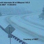 7:56 am MST #I90 looks slick east of #Missoula this AM. #mtwx http://t.co/8AjdKSgaFH