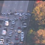 RIGHT NOW: Early morning protesters blocking the 5 fwy in #SanDiego. #Ferguson http://t.co/ilvujd2cVR