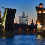 Белые ночи над Большеохтинским мостом. Санкт-Петербург. http://t.co/Yp3yIHR2Mq