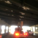 UPDATE: SB I-275 right lane closed at Dale Mabry Hwy. FDOT needs to inspect bridge damaged by crane @TampaBayTraffic http://t.co/7RIDVK9h1M