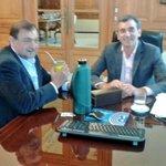 Junto a @RandazzoF, con quien dialogamos sobre el futuro del transporte en Salta y del norte argentino http://t.co/lZZFKvLa1o