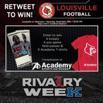 RT for your chance to win tix to Saturdays #RivalryWeek game compliments of @Academy!  #L1C4 #ItsGood2Be #CardNation http://t.co/ZTGSwPJZZf