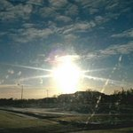 Beautiful sundog over NDSU Campus this morning #HappyWednesday #BeautyOfTheCold http://t.co/A6qsXsYOoj