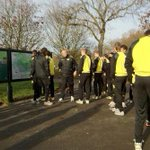 Borussia Dortmund trained at Regents Park this morning ahead of their game against Arsenal tonight. #BvB http://t.co/ET5ba2Lv6a