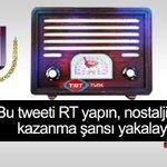 """Sadece bu tweeti RT yaparak """"Nostaljik Radyo"""" kazanma şansı yakalayın. #trtturk http://t.co/qeX5QB6Drm"""
