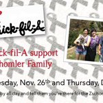 Stop by Chino Hills Chickfila TODAY and 15% of sales will go to Chrissy and her amazing family!! http://t.co/Pc3aMY7jRJ