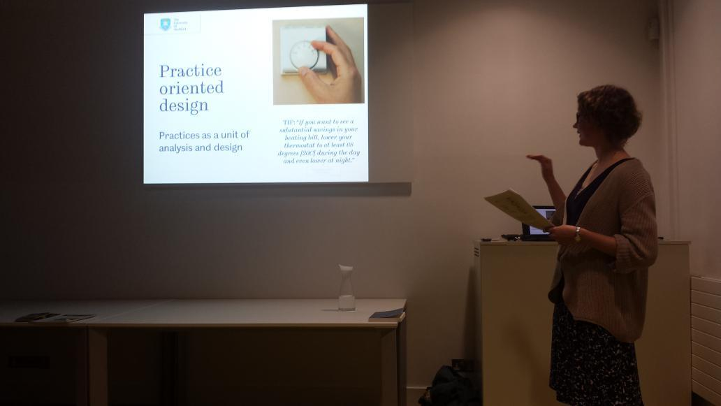 RT @dralibrowne: @DEMAND_CENTRE  Lenneke Kuijer @ManchesterSCI talking on practices as unit of design using home heating as an example http…