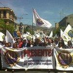 Fotos: Anef vive jornada de paro y trabajadores se movilizan en todo Chile en protesta a reajuste del sector público. http://t.co/fwEls2ysQB