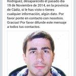 Máxima atención, por favor. Este hombre ha desaparecido dentro de la provincia de Cádiz. Retuitead todo lo posible. http://t.co/8FeItuoa0V