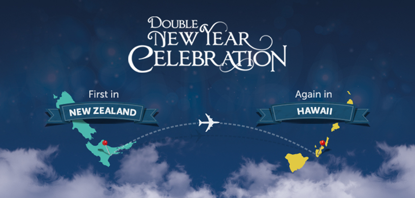 Celebrate 2015 first in New Zealand, then again in Hawaii with @milesnsmilesINT!