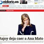 Nuestra portada. Dimite la ministra Ana Mato. Rajoy la deja caer por el caso Gürtel. http://t.co/hqRR7HwecT http://t.co/DekhLiBjwo
