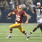The only Redskins quarterback to start and finish a winning game this season is Colt McCoy http://t.co/X0va7ht2tt