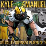 RT to congratulate the 2014 Missouri Valley Football Defensive Player of the Year - Kyle Emanuel!  #BuckBuchanan http://t.co/G0PfJWNE4U