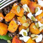 Start your healthy feast with this pumpkin & lentil salad topped with goat cheese! #recipe http://t.co/bZDwQkwqzA http://t.co/aA4o4SNMcg
