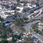 Heres the #LAtraffic backup on the 101 due to the protests stopping traffic near Alvarado. http://t.co/n4WZVDB95t http://t.co/SSnf5pRvpN