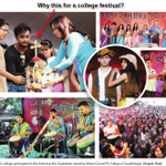 """3 day college fest at Mount Carmel college. 40 events. But no """"mainstream"""" media asks..why bring cross in the middle? http://t.co/DoEm5mMR5Q"""