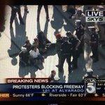 Good Morning, L.A. #Ferguson protestors are now blocking the #101Freeway via @maxschwartztv and @KTLA. http://t.co/WyqO5ONqXl