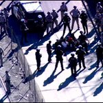 Protesters are now being arrested one by one. Traffic still blocked on 101 near Alvarado. http://t.co/n4WZVDB95t http://t.co/linmK4s9Yh