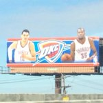 New Thunder billboard near downtown OKC has Kevin Durant and Steven Adams on it - http://t.co/lDJd5jElQJ