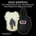 Black Friday – Cyber Monday free shipping on all orders (+ fine print)  http://t.co/vMxBXEP17n