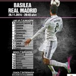 Real Madrid: Navas; Arbeloa, Varane, Ramos e Coentrão; Kroos, Isco, James e Bale; Ronaldo e Benzema. https://t.co/IHhz5WpjJ6