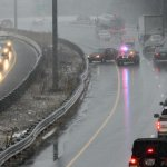 PHOTO: A car spun out along Route 95 South in Lexington as traffic began to build Wednesday. http://t.co/OQLXugaVbu http://t.co/FS6S3ubDve