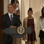 LIVE NOW: President Obama pardons the National Thanksgiving Turkey http://t.co/iHt3jkbZMk http://t.co/WPjNNZKiIh