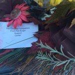 Msg to Edmontons Filipino community on a memorial wreath outside Fatburger. Open 1st time since tragic crash. #cbc http://t.co/z8KONdhvb7