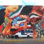 RT @1AMSF: A tribute mural to the #43students in Mexico by @eversiempre ||#CiudadJuarez #43students #SASC