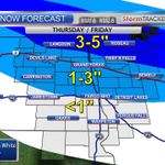 Another snow system is expected to move in Thursday evening/night. Snow mainly north of I-94. #ndwx #mnwx #sdwx http://t.co/EZnduJqsQd