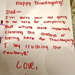 #BirdDay threw a twist on one familys Thanksgiving, but Sarahs dad sure is raising her right. #FlyEaglesFly http://t.co/sjKEHkO3mZ