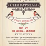 Plse RT #Salisburyhour last few stalls left at our #vintage market on 7 Dec tweet for info http://t.co/Wh4DDBMLsd