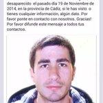 Subo una foto por una noticia triste. El hermano de un amigo mío está desaparecido desde el 19 NOV. RT porfavor http://t.co/8cX51GDvEU