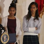 President Obama made Sasha and Malia go to another turkey pardoning and they were THRILLED http://t.co/taIVndQJMN http://t.co/lzgzpJzdRp