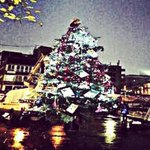 Today I dressed a 12ft Christmas tree in Shoreditch, Old Street by the fire station #MakeHackneySparkle http://t.co/XhUTB9umHx
