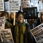 Demonstrators gather outside US Embassy in London to protest #FergusonDecision - http://t.co/i8Pxpp1pfu http://t.co/ohfmDTb1D6